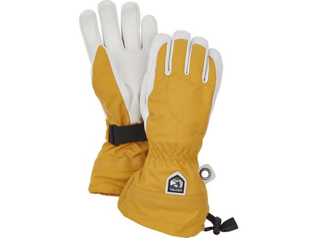 Hestra Heli Ski 5 Finger Gloves Women mustard/offwhite